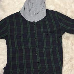 Flannel hoodie